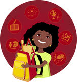 Latina girl going to school Royalty Free Stock Photography