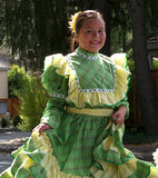Latina girl in traditional dress. Latina teen in traditional costume at a street parade. Photo taken on October 2 2011, in Yountville California royalty free stock photography