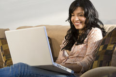 Latina Laptop Stock Photography