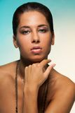 Latina looking woman beauty Royalty Free Stock Photo