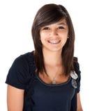 Latina mignonne avec des supports Photographie stock libre de droits