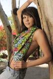 Latina Model Garden Tree Stock Photography