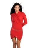 Latina nel colore rosso Immagini Stock