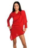 Latina nel colore rosso Fotografia Stock Libera da Diritti