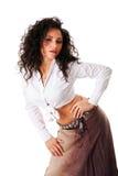 latina sexigt kvinnabarn Royaltyfri Foto