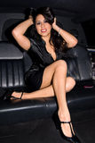 Latina 'sexy' no Limo. Fotografia de Stock Royalty Free