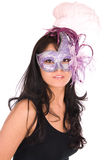 Latina wearing Venetian mask. Stock Photo