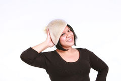 Latina woman in hat Royalty Free Stock Photos