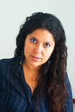 Latina Woman portrait. Adult woman pretty face portrait Stock Photography