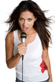 Latina Woman Singing Royalty Free Stock Image