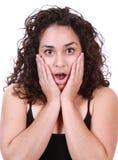Latina woman surprised Stock Images