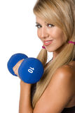 Latina Workout Woman Royalty Free Stock Image