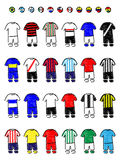 Latinamerican Clubs Football Kits Pencil Style Stock Photo