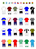 Latinamerican Clubs Jerseys Football Kits Royalty Free Stock Photos