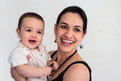 Mommyen och behandla som ett barn pojken. Royaltyfri Bild
