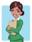 Latinamerikansk affärskvinna Vektor Illustrationer