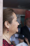 Latinamerikansk fru av den politiska kandidaten Royaltyfri Foto