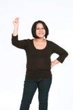 latinamerikansk låsande fast kvinna för fingrar Arkivfoto