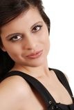 latinamerikansk le kvinna för headshot Royaltyfria Foton