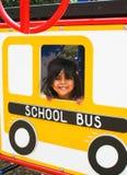latinamerikansk lekplatspreschooler för buss Royaltyfria Bilder