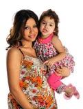 Latinamerikansk moder och barn Arkivbild