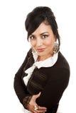 latinamerikansk nätt kvinna Arkivbilder