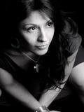 latinamerikansk nätt kvinna royaltyfri fotografi