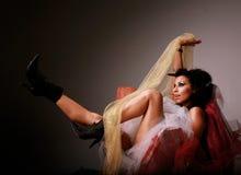 latinamerikansk sexig kvinna Royaltyfri Bild