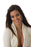 latinamerikansk sexig le kvinna Arkivfoto