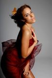 latinamerikansk silk kvinna royaltyfri foto