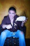 latinamerikanska popcornsportar för ventilator Royaltyfri Fotografi
