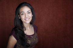 latinamerikanskt nätt kvinnabarn Royaltyfri Foto