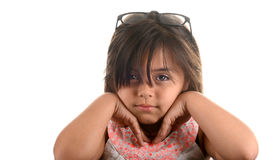 Latino Actress. Very Cute Image Of a young Latino actress with Glasses Royalty Free Stock Photography