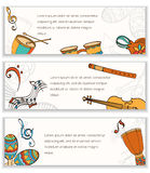 Latino banner. Frame of latino musical instruments.  can be used as invitation card for wedding, birthday and other holiday and musical background. Vector Stock Image
