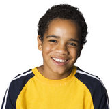 Latino boy laughing. Portrait of a Latino boy laughing Stock Photos