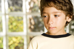Latino boy looking sad Royalty Free Stock Images