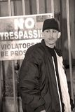 Latino Boy, No Trespassing Royalty Free Stock Photos