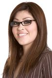 Latino Businesswoman. Beautiful smiling young latino businesswoman Royalty Free Stock Photography