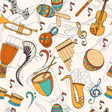 Latino card. Latino musical pattern. Pattern of latino musical instruments. Latino background can be used as invitation card for wedding, birthday and other Stock Photography