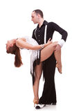 Latino couple in a dance pose Stock Images
