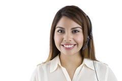 Latino Customer Service Representative. A Hispanic Customer Service Representative royalty free stock photo