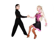 Latino da dança dos pares foto de stock