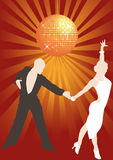 Latino dance. Latino couple dancing in the disco lights, vector illustration vector illustration