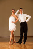 Latino dance couple in action - dancing wild samba Royalty Free Stock Image