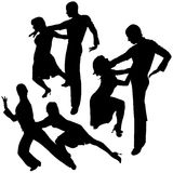 Latino Dance Silhouettes Royalty Free Stock Photography