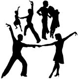 Latino Dance Silhouettes Royalty Free Stock Photo