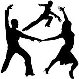 Latino Dance Silhouettes Stock Photo