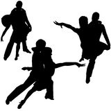 Latino Dance Silhouettes Royalty Free Stock Images
