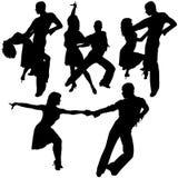 Latino Dance Silhouettes Stock Image