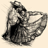 Latino dance. Vector illustration of a latino dance drawing vector illustration